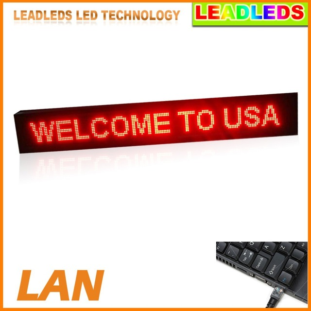 """Single Red 53.5"""" X 9.5"""" LED Display Outdoor Super Bright Scrolling Message LED Sign Board Commercial Lighting Advertising Lights"""