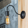 Ретро чердак черная настенная лампа E27 винтажный Крытый прикроватный светильник украшение гостиной бар Прихожая Промышленная