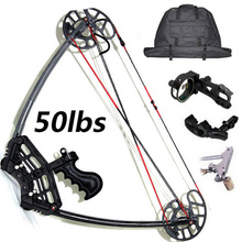 RH&LH HAN Triangle Hunting Compound Bow and Arrow sets 5-pin sight release bag,Hunting Archery,Hunting Arrows Set