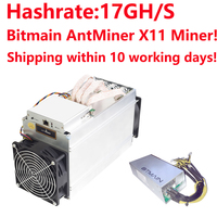 In stock Bitmain ANTMINER D3 With APW7 Power Supply 17GH/s DASHCOIN X11 MINER