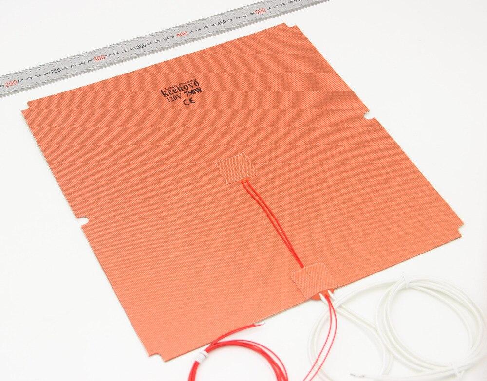 KEENOVO Silicone Aquecedor 330x330mm 750 w para Tronxy X5S 3D HeatBed Impressora de Atualização