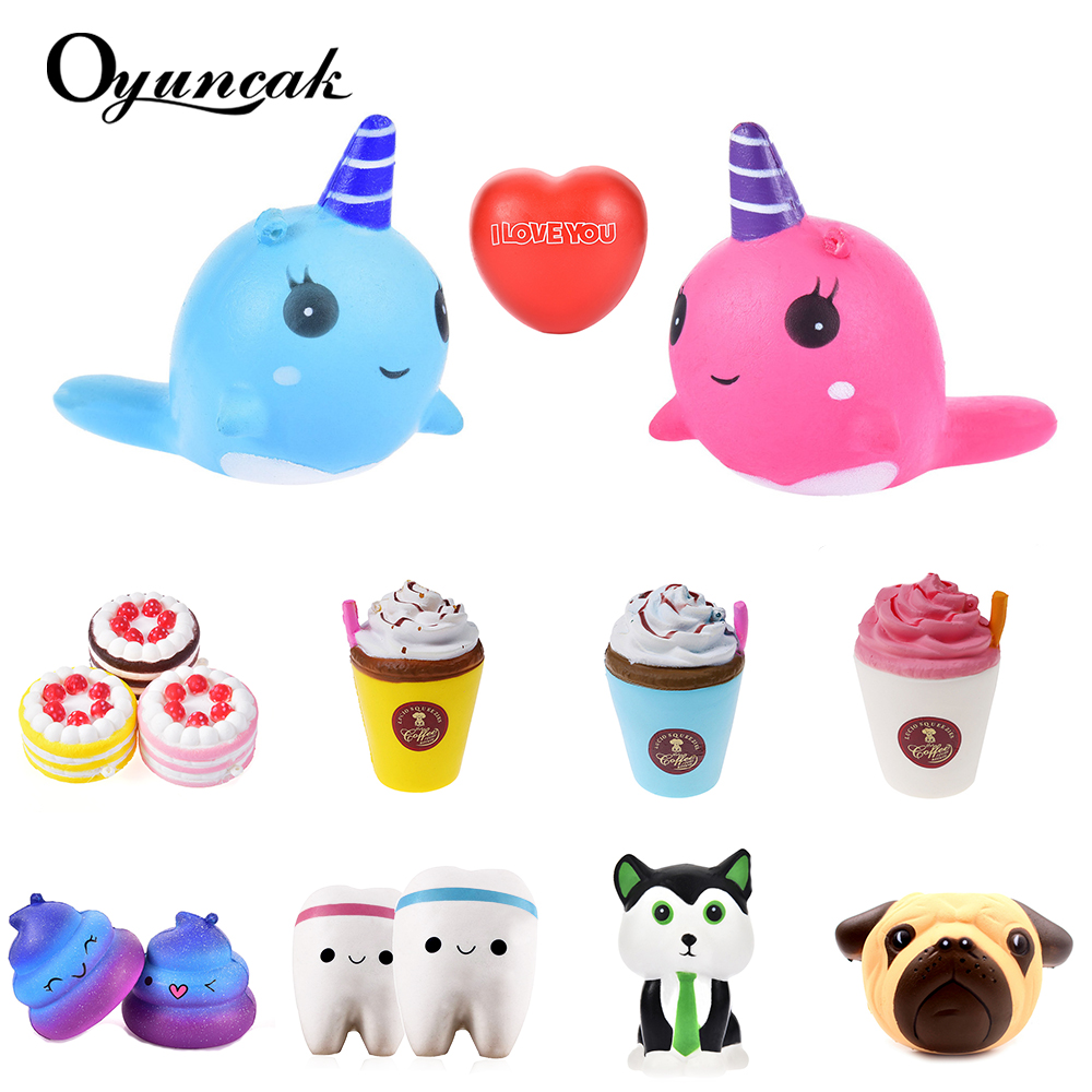 Oyuncak Squish Antistress Novelty Gag Toys Squishy Cat Surprise Popular Slow Rising Squeeze Jumbo Squishy Unicorn Funny Gadgets slow resilient series of lovely elastic mermaid toys jumbo squishy 5pcs