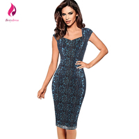 Berydress Floral Women Lace Dress Sexy Elegant Cap Sleeve Wedding Party Fitted Bodycon Summer Dresses 2017 Red Bandage Vestiddos