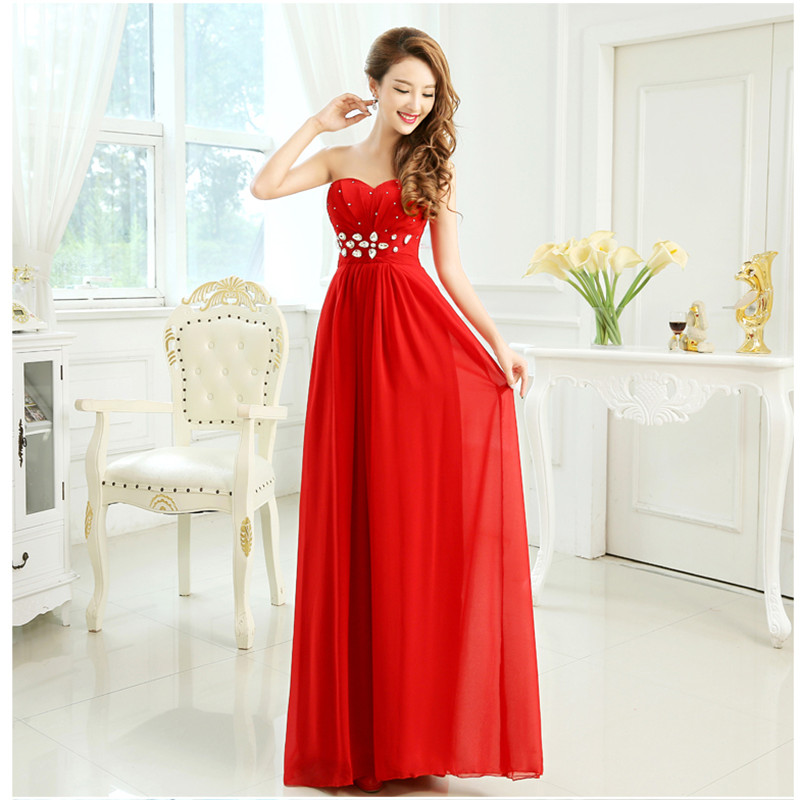 Long red homecoming dresses