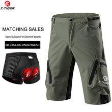 X-tiger mtb ciclismo shorts atualizar 5d gel acolchoado ciclismo roupa interior respirável downhill mountain bike shorts para homem