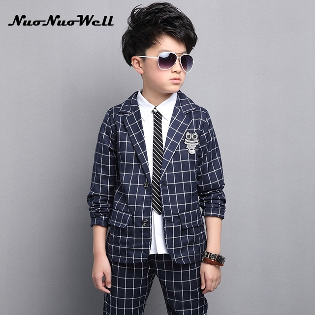 NNW 2018 New Children s Blazers Suit Wedding Suits Party Boys Dresses  Teenager Boys Gentle Suits Coat + Pant 2Pcs Kid Sets 871bec4e5bab