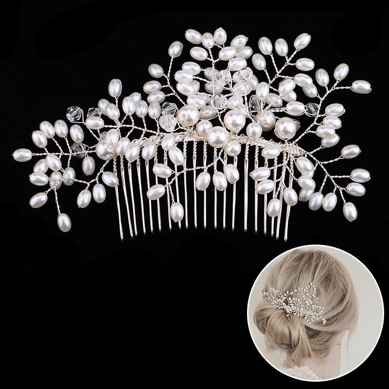 Pearl Flower Hairband საქორწილო - მოდის სამკაულები - ფოტო 6