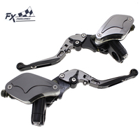 For 50 300CC Universal 7 8 22mm Motorcycle Folding Extendable Brake Clutch Lever Master Cylinder Hydraulic