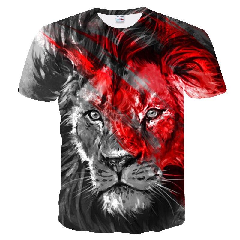 BIANYILONG 2018 New High Street Men/Women T-shirt 3d Lion Print Designed Stylish Summer T shirt Brand Tops Tees Plus Size M-5XL