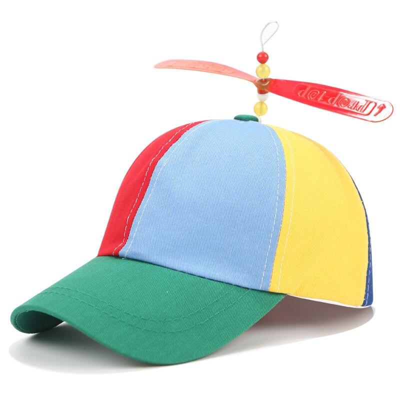 2019 New Arrival Kids Hat Summer Rainbow Color Propeller Baseball Cap for Boys Girls Chlidren