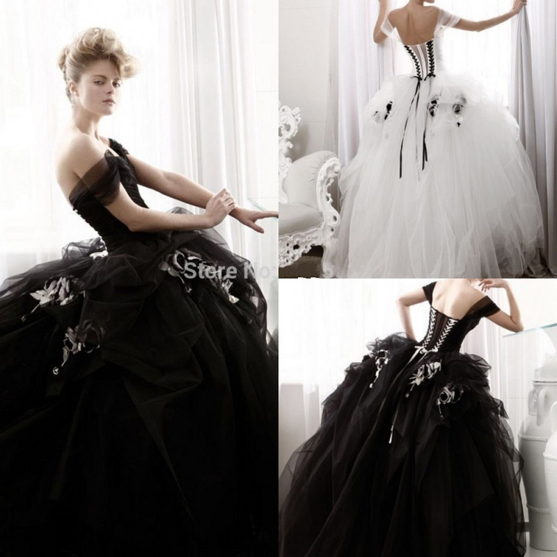 White Wedding Dress Gothic: Aliexpress.com : Buy 2016 Ball Gown Sweetheart Black