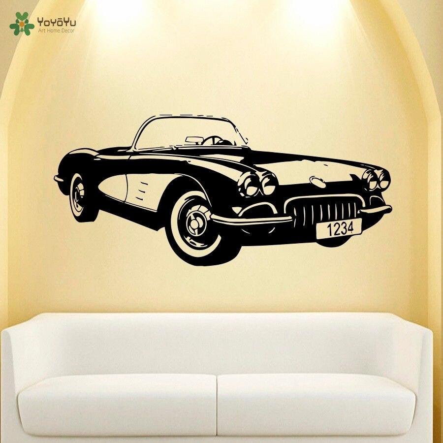 YOYOYU Wall Decal Vinyl Art Room Decor Sticker Classic Old Car ...