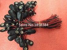 200 Pçs/lote 9V Pressão Conector titular Wires clipe de Chumbo 150 MILÍMETROS