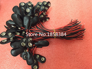 Image 1 - 200 Stks/partij 9V Batterij Snap Connector Clip Lead Wires Houder 150 Mm