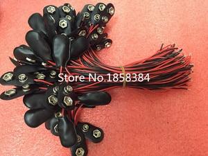 Image 1 - 200 adet/grup 9V pil yapış bağlantısı klipsi kurşun teller tutucu 150MM