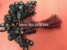 200 sztuk/partia 9V baterii Snap złącze klip uchwyt przewodów ołowiu 150MM