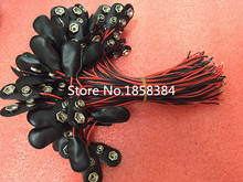 200PCS/lot  9V Battery Snap Connector clip Lead Wires holder 150MM