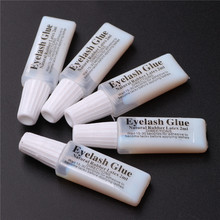 High quality white portable false eyelashes glue eye lashes adhesive sample 1.5g