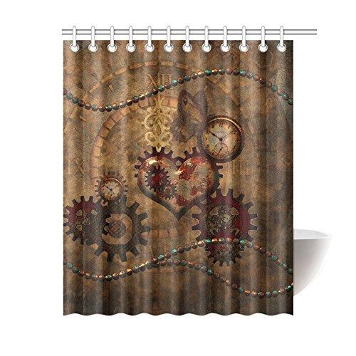 NANAZ Custom Steampunk Bathroom Waterproof Fabric 60x72 Inch Shower Curtain