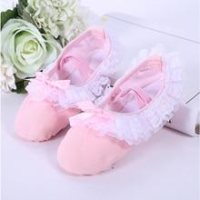 Free shipping  Children's canvas lace ballet shoes girls exercises ballet dance shoes gym floor shoes JQ-254 klaus bruengel ballet music for exercises 1
