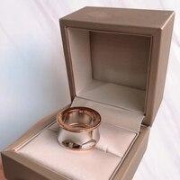 WinTion BULGARIA glamour original creative mirror luxury aristocratic dazzling glaze rose gold jewelry women mens wholesale ring