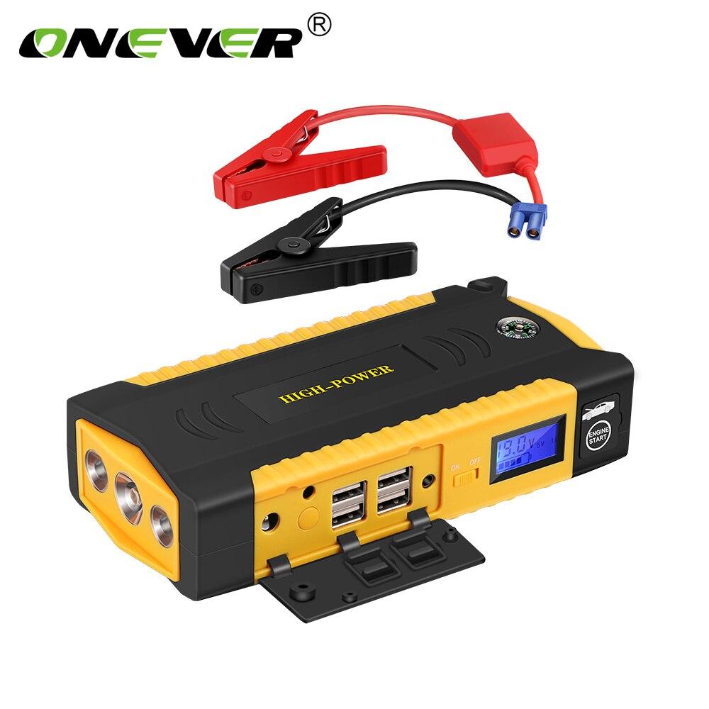 ONEVER автомобиля Пусковые устройства 13600 мАч smart экстренного пусковое устройство 600a пик Запасные Аккумуляторы для телефонов автомобиля Зарядное устройство для автомобиля Батарея с ЕС разъем