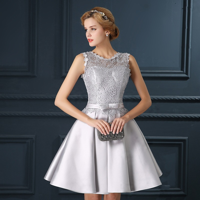 Online Buy Wholesale grey cocktail dress from China grey cocktail ...