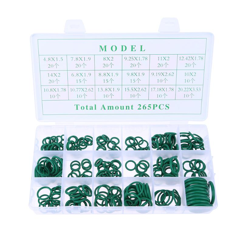 265pcs 18 Sizes Assortment Kit Car Auto Vehicle HNBR Air Conditioning Rubber O Ring Seals Set Tool Car Repair Set Rubber Rings265pcs 18 Sizes Assortment Kit Car Auto Vehicle HNBR Air Conditioning Rubber O Ring Seals Set Tool Car Repair Set Rubber Rings