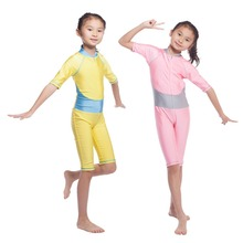 Muslim Modest Young Girls Swimsuit Full Cover Costume Beachwear
