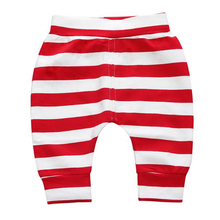 2019 Spring Autumn baby boy red white stripe pant cotton newborn boy trousers Bloomers PP pants Children Leggings for 0-24m