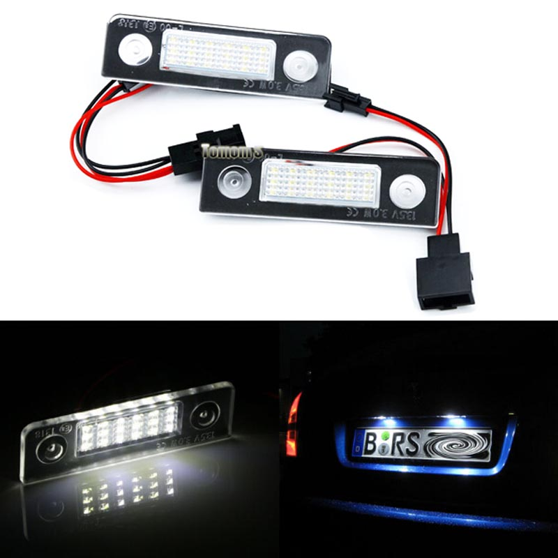 2X Error Free 18SMD LED license plate light for skoda octavia lights Led car light Octavia II 1Z number plate light Car-styling car usb sd aux adapter digital music changer mp3 converter for skoda octavia 2007 2011 fits select oem radios