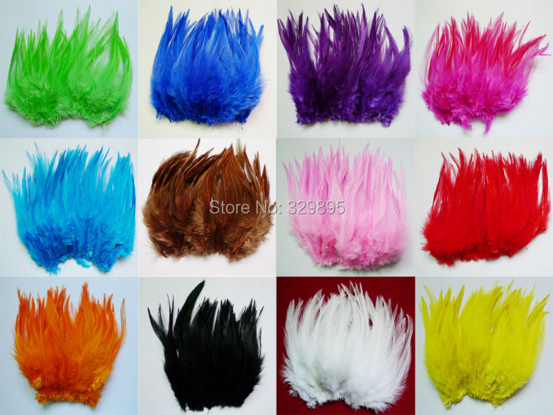 100pcs 10-15cm Mixed Colors pheasant tail Chicken Rooster Cock Feathers For Crafts  Jewelry dreamcatcer shoe decorations plumes