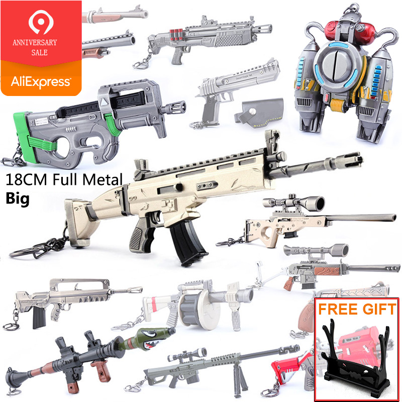 Kids Gifts Battle Royale Action Figure Game Gun Model Alloy Weapons Keychain