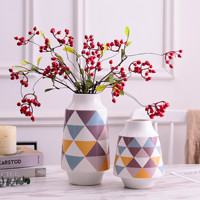 2pcs/Set Flower Vase Minimalist Ceramic Vase Water Planting Container Pot Home Decor Hydroponic Planter Vase