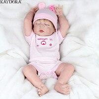 KAYDORA 22 дюймов Кукла Reborn полное тело силиконовые куклы Reborn игрушки подарки для девочек реалистичные новорожденные дети модные куклы игрушки
