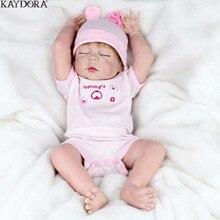 KAYDORA 22 Inch Doll Reborn Full Body Silicone Dolls Toys Gifts For Girls Lifelike Newborn Children Fashion Toy