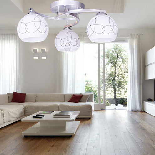incandescente iluminacin de techo moderna lmparas de techo dormitorio dinningroom living luz luz moderno lmpara de - Living Moderno