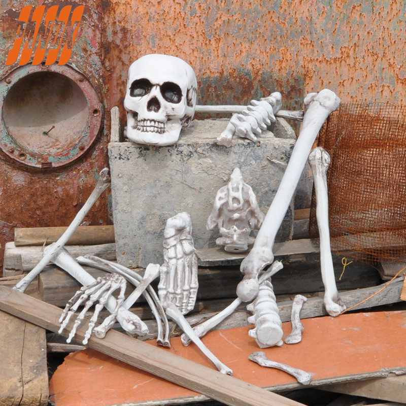 19 pcs bones of bag halloween decoration props reastic for Bag of bones halloween decoration