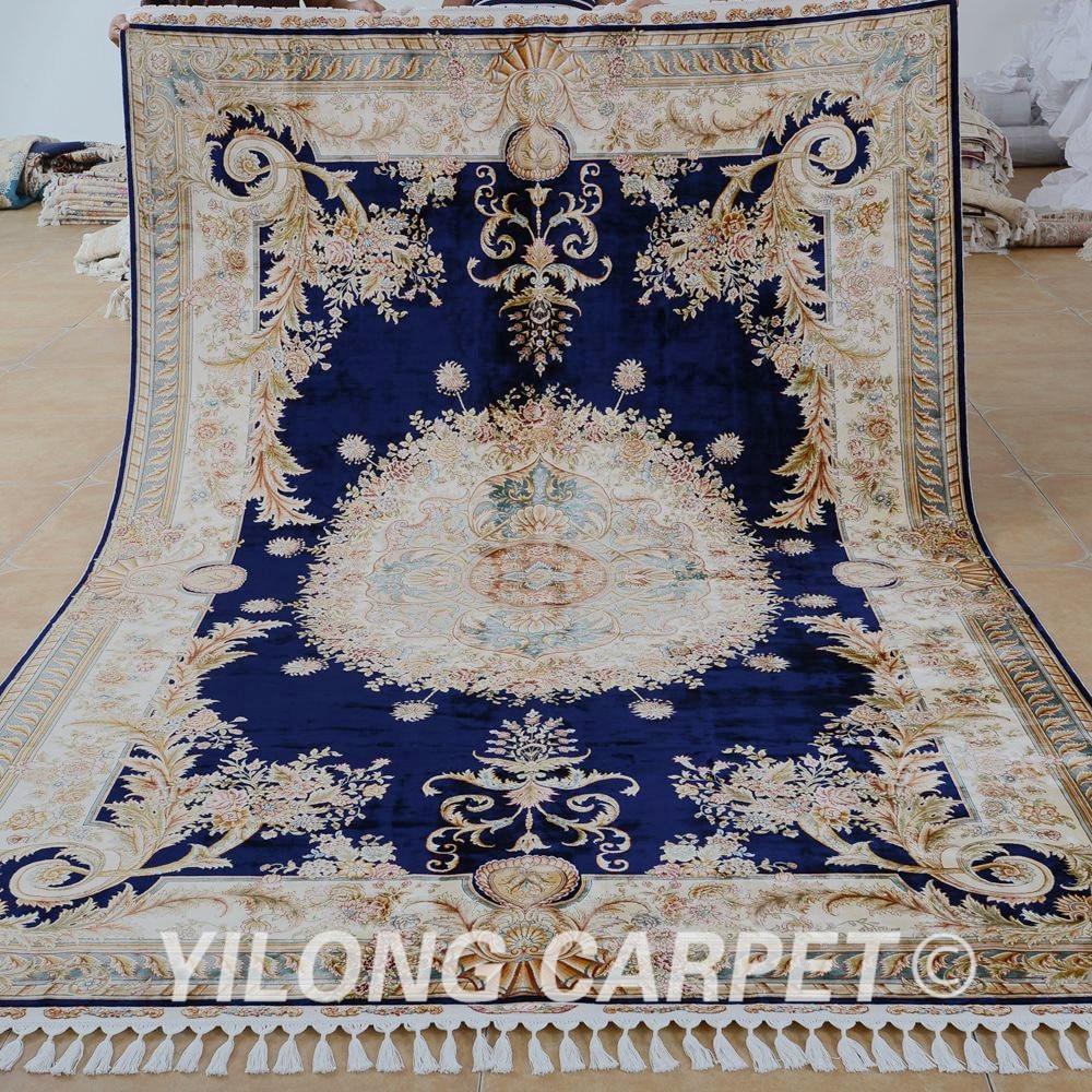 Yilong 6 56 X9 84 Hand Knotted Turkish Rug Dark Blue