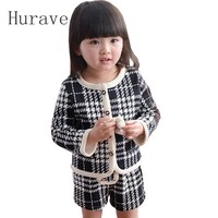 Hurave Autumn Spring Children Clothing Girls Set Kids Clothes Brand Girls Clothing Suits Toddler 2 PCS