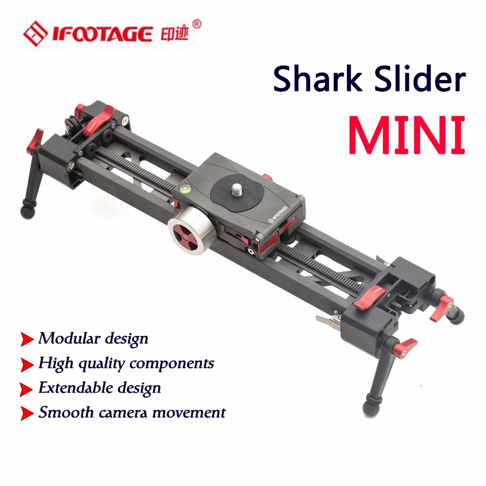 iFootage carbon fiber Shark Slider mini  camera slider video dolly track Portable dslr slider DSLR Camcorders professional professional carbon fiber camera crane jib arm for dslr camera and camcorders portable camera accessories flexible rocker cd50