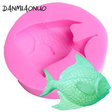 Lovely 3d Mold Fish Silicone Cake Chocolate Gumpaste Mold Soap Silicone Mold Food Grade Silicone Baking Tools For Cakes A406856 цена и фото