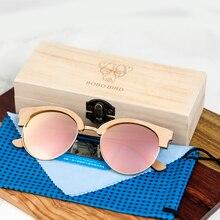 Wooden Ladies Sunglasses Polarized UV400 in Wooden Box