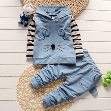 3pcs/set Fashion Cotton Newborn Baby Boy Girl Clothes Bodysuit Pants Infant Costume Girl Children Clothing