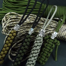 1pc Paracord Beads Metal Charms for Bracelet Accessories Survival DIY Pendant Buckle Knife Lanyards