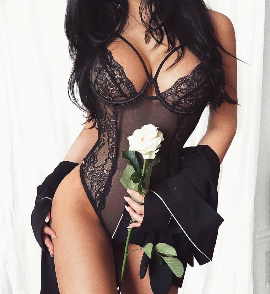 HIRIGIN Women Bodysuit Sissy/Sexy Lingerie Lace Babydoll Thong Nightwear Sexy Underwear S-XXL