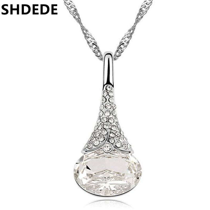 SHDEDE Waterdrop Pendants Crystal from Swarovski Elements His