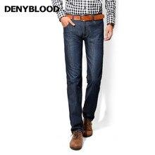 Denyblood Джинсы для женщин омрачены мыть Джинсы для женщин мужские синий черный хлопок джинсовые прямой крой классический стильный Повседневные штаны для мужчин мужской Мотобрюки 858