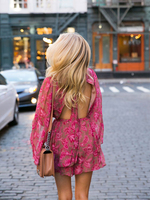 Zimm Brand New 2019 Summer Rompers Womens Casual Style Fashion Floral Print Bohemian Beach Jumpsuits Playsuits