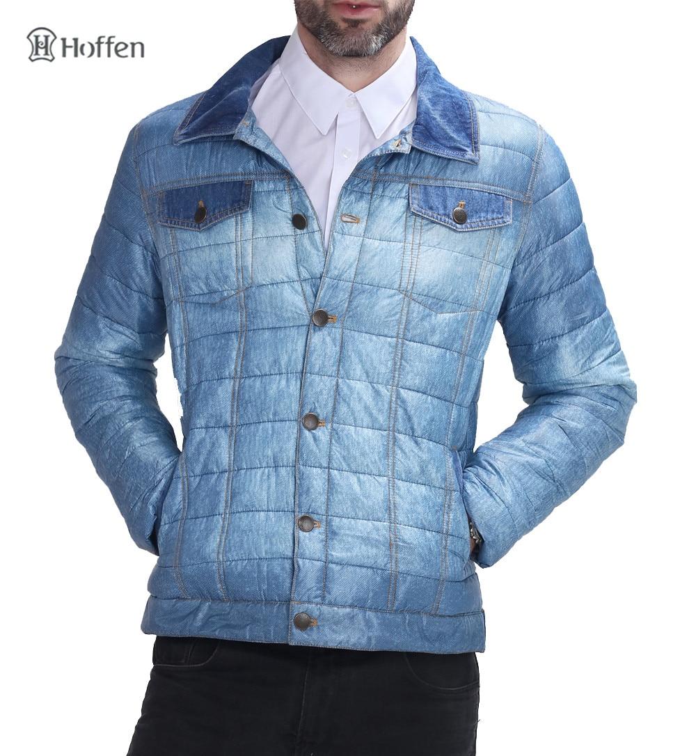 Hoffen 2017 Fashion Design Spring jacket Mens Padded Jackets Turn ... : quilted designer jackets - Adamdwight.com